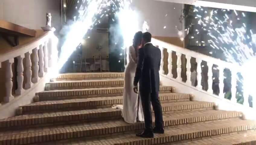 Pirotecnia fria boda