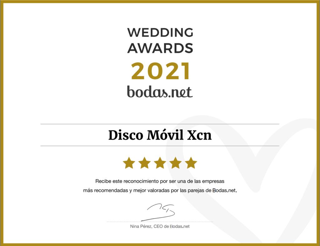 Wedding Awards 2021 Discomovil XCN width=